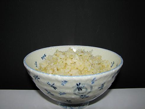 バケツ稲を食す